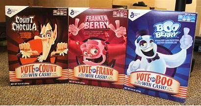 Berry Chocula Count Boo Franken Cereals Monster
