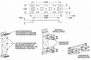 Universal Vertical Or Horizontal 3 Position Mounting Plate