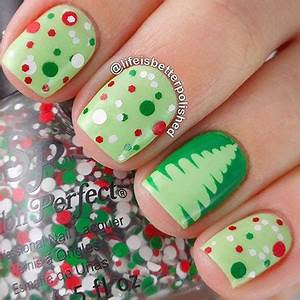 18 Christmas Tree Nail Art Designs & Ideas 2016
