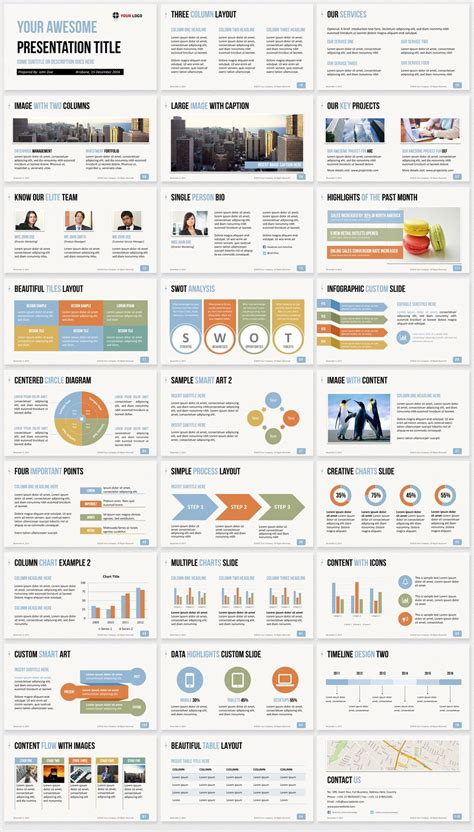 Ultimate Professional Business PowerPoint Template - 1200 ...