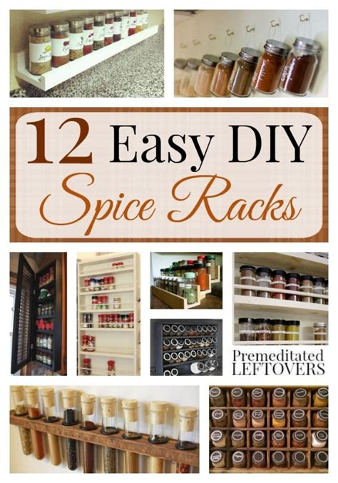 Spice Rack Storage System by Easy Diy Spice Racks Here Are 12 Spice Racks