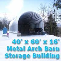 4039 x 6039 x 1639 prefab metal arch barn storage building kit With 40 x 60 x 16 metal building