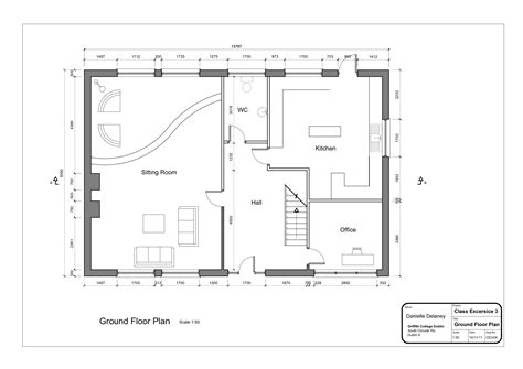 home architecture drawing layout ground floor plan with
