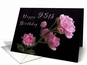 Congratulations Baby Shower Happy 95th Birthday Pink Roses Card 1063411