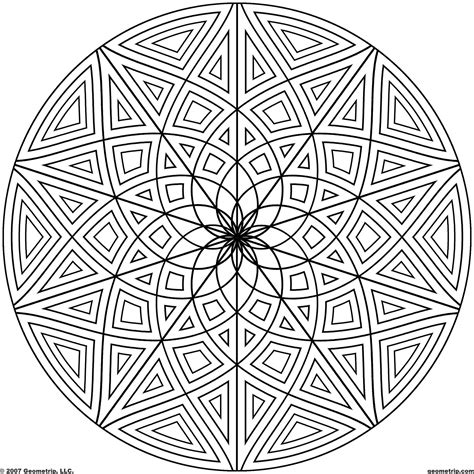 Geometric Design Coloring Pages Geometric Design Coloring Pages Bestofcoloring