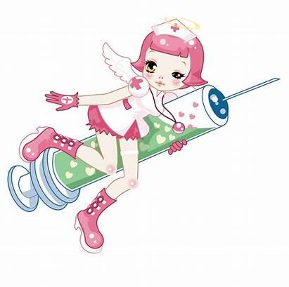 Nurse Clipart Injection Cartoon Syringe Take Angels