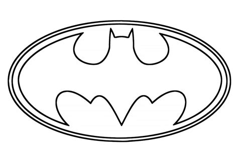 Batman Symbol Coloring Pictures Murderthestout