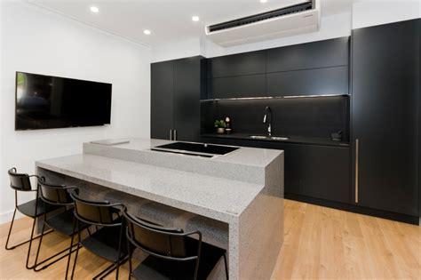 black kitchens designs dulux domino polyurethane cabinets black kitchen design 1702