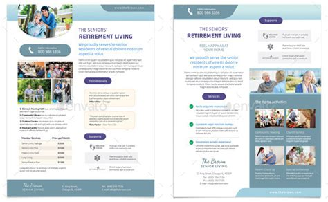 Elder Care Nursing Home Print Template Pack From Nursing Home Brochures 8 Beautiful Nursing Brochure