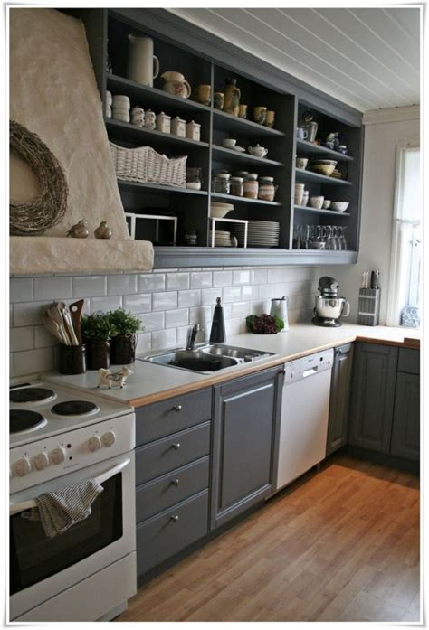 open shelf ideas    kitchen  spacious