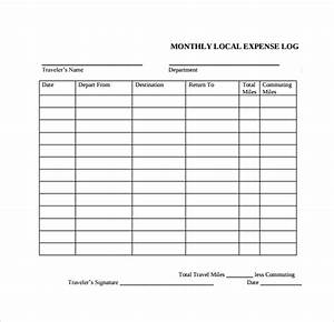 Travel Expenses Report Free 9 Sample Expense Log Templates In Pdf