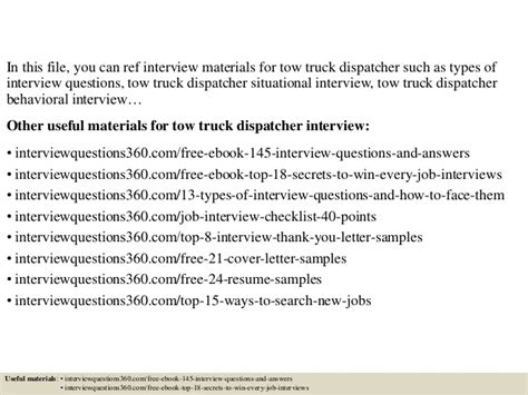 Tow Truck Dispatcher Resume by Top 10 Tow Truck Dispatcher Questions And Answers