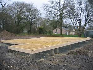 Maison ossature bois sur plot beton for Maison bois sur plots