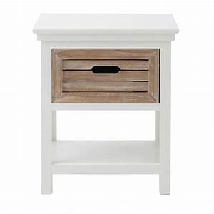 Gartenschrank Holz Weiß : nachttisch aus holz mit schublade b 40 cm wei ouessant maisons du monde ~ Michelbontemps.com Haus und Dekorationen