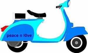 Vespa Biru Clip Art at Clker.com - vector clip art online ...