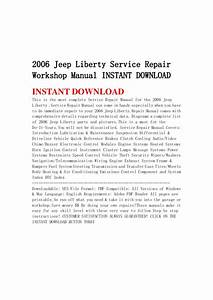 2006 Jeep Liberty Service Repair Workshop Manual Instant