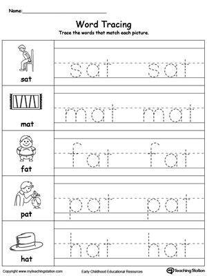 word tracing  words worksheet topics writing