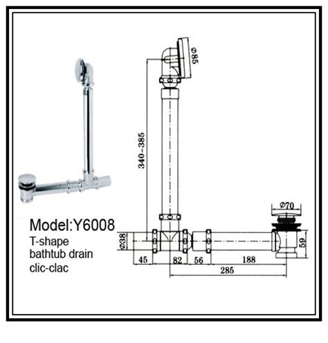 Tub Drain Assembly Diagram by Bathtub Drain Diagrams 171 Bathroom Design