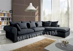 canape d39angle en tissus 6 places With salon en tissus moderne
