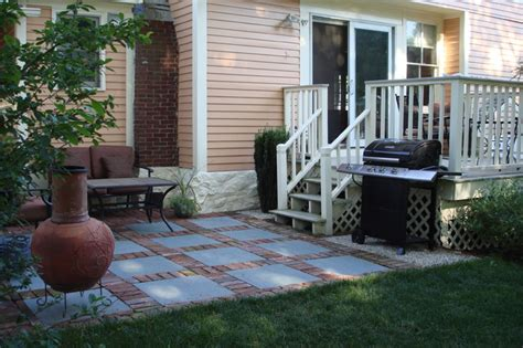 brick and slate patio design contemporary patio