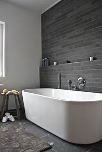 salle de bain ardoise naturelle et chic With photo salle de bain moderne