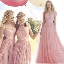 blush plus size bridesmaid dresses 2016 new blush pink flowing a line tulle bridesmaid dresses convertible plus size evening