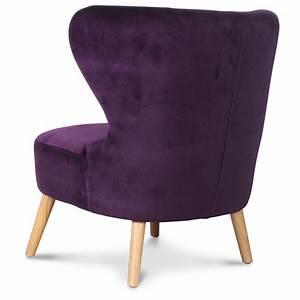 Fauteuil Design Scandinave : fauteuil crapaud design scandinave aubergine kok n ~ Melissatoandfro.com Idées de Décoration