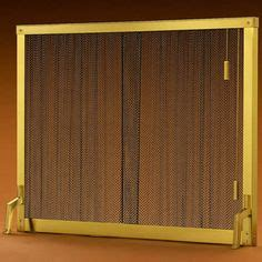 4391 pull chain standing curtain fireplace screen 44 quot x