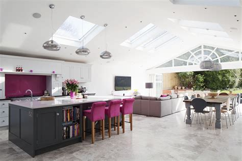 Kitchen Living Etterby by Rear Extension Open Plan Living Large Kitchen Island