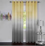 Semi Sheer Curtain Panel Comes In Two Different Ombre Patterns And Back To View More Article Details Finishing The Interior Decor With Curtains In Gray For Living Room Orange Curtains For Living Room Pimp 12 Photos Gallery Of Decorate Room With Gray Chevron Curtains