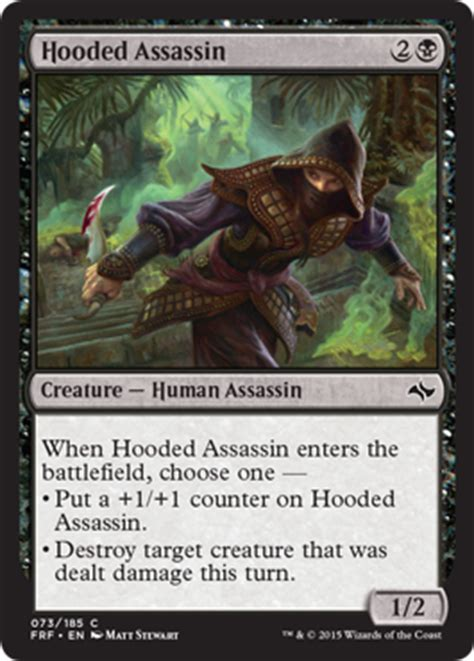 Mtg Assassin Deck List by Hooded Assassin From Fate Reforged Spoiler