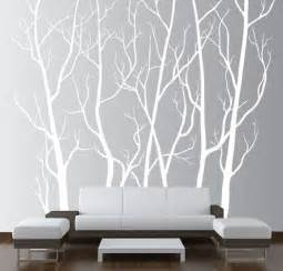 large wall decor vinyl tree forest decal sticker choose size and color ebay