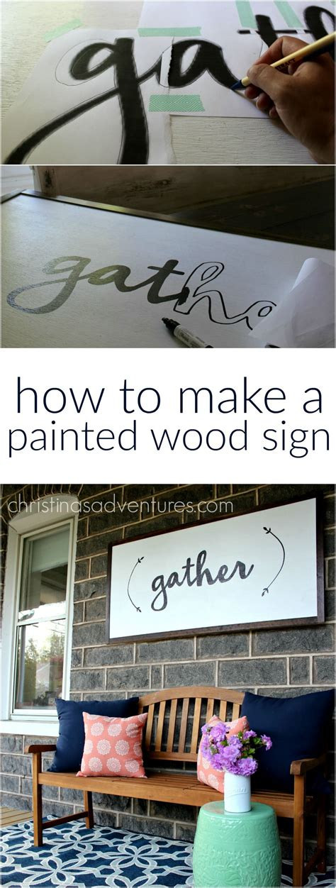 diy large wood sign tutorial painted wood signs diy