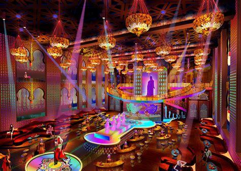 Luxury Islamic bar night scene