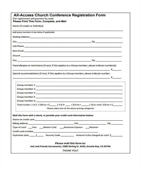conference registration forms   excel ms