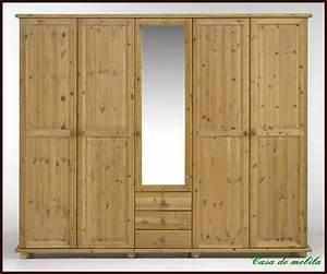 Massivholz KLEIDERSCHRANK Schlafzimmerschrank Holz Kiefer
