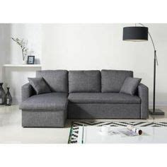 canap 233 d angle convertible lit angle r 233 versible tissu noir convertible d and sofas