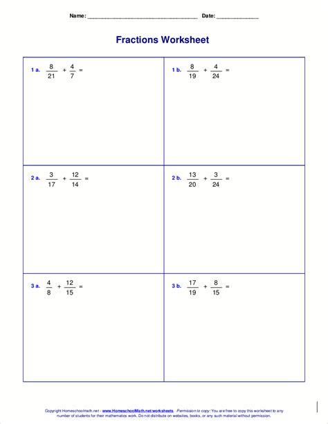 www homeschoolmath net worksheets fractions www best