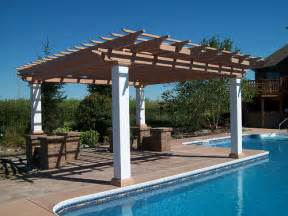 pool pergolas pictures inground pool with composite pergola 1 flickr photo sharing