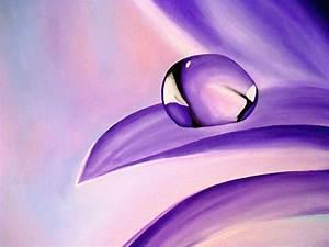 Waterdrop on a Purple Flower by angelskissme on DeviantArt