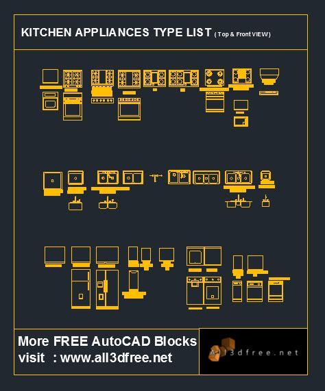 autocad blocks kitchen appliances collection