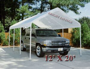 white replacement canopy tent carport    top cover   include frame ebay