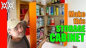 Easy wall-mounted storage cabinet Organize your garage or