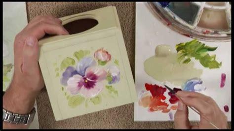 peinture decorative en technique florale mille pensees