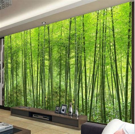 customized green bamboo forest photo wall mural