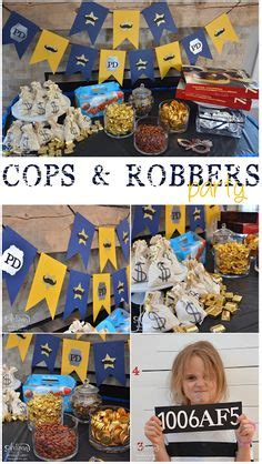 chases cops  robbers themed party photo booth props