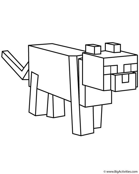 minecraft coloring minecraft ocelot coloring pages 01 printables