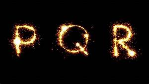 letter r on fire letter is burned burning from the With letter sparklers