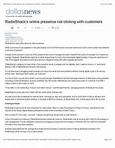 Radio shack's online presence not clicking with customers ...