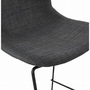 Chaise Mi Hauteur : tabouret de bar chaise de bar mi hauteur design empilable doly mini en tissu gris fonc ~ Teatrodelosmanantiales.com Idées de Décoration
